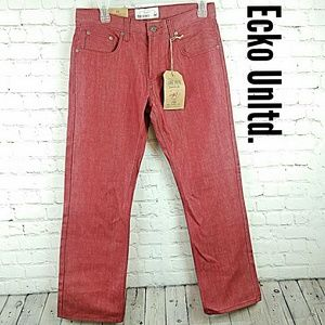 Ecko Unltd Red jeans Lansing wash men's 32 waist